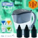 ALKALINE pH PLUS ionized Water PITCHER, 3.5L By WellBlue